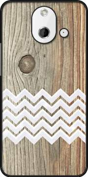 Chevron on wood Case for HTC One (E8)