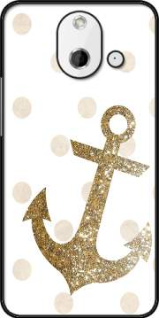 Glitter Anchor and dots in gold Case for HTC One (E8)