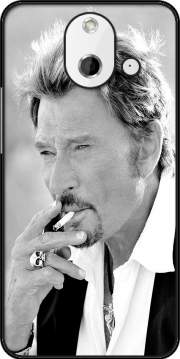 johnny hallyday Smoke Cigare Hommage Case for HTC One (E8)