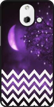 Purple moon chevron Case for HTC One (E8)