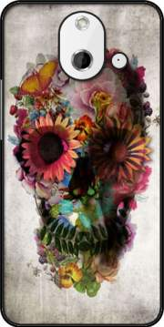 Skull Flowers Gardening Case for HTC One (E8)