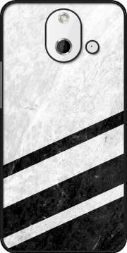 White Striped Marble HTC One (E8) Case