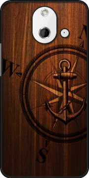 Wooden Anchor Case for HTC One (E8)