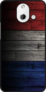 Wooden French Flag Case for HTC One (E8)