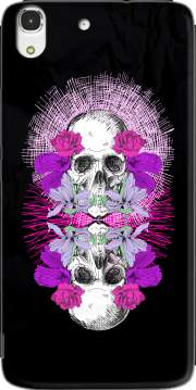 Flowers Skull Case for Huawei Honor 4A