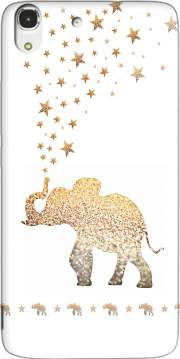 Gatsby Gold Glitter Elephant Case for Huawei Honor 4A