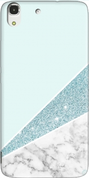 Initiale Marble and Glitter Blue Case for Huawei Honor 4A