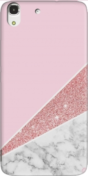 Initiale Marble and Glitter Pink Case for Huawei Honor 4A
