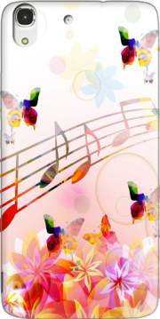 Musical Notes Butterflies Case for Huawei Honor 4A