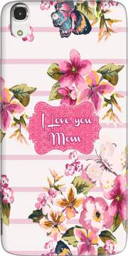 Pink floral Marinière - Love You Mom Case for Huawei Honor 4A