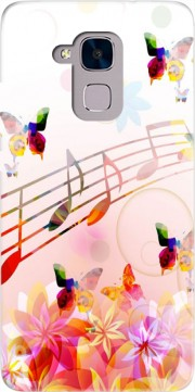Musical Notes Butterflies Case for Huawei Honor 5C / HUAWEI GT3 / Honor 7 Lite