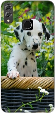 Cute Dalmatian puppy in a basket  Case for Honor 8x