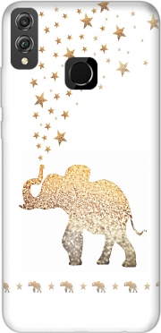 Gatsby Gold Glitter Elephant Case for Honor 8x