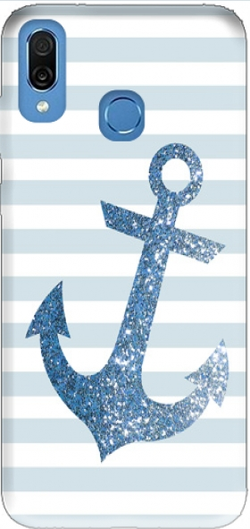 Case Blue Glitter Mariniere for Honor Play Cor-L29
