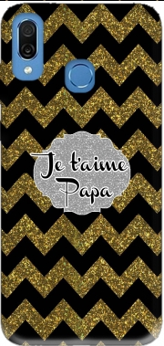 chevron gold and black - Je t'aime Papa Case for Honor Play Cor-L29