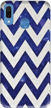 Chevron silver in night galaxy Case for Honor Play Cor-L29