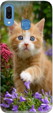 Cute ginger kitten in a flowery garden, lovely and enchanting cat Case for Honor Play Cor-L29