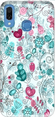 doodle flowers and butterflies Case for Honor Play Cor-L29