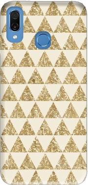 Glitter Triangles in Gold Case for Honor Play Cor-L29