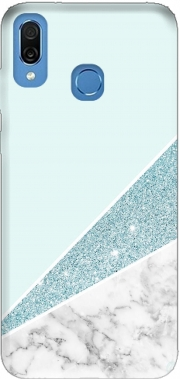 Initiale Marble and Glitter Blue Case for Honor Play Cor-L29