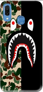 Shark Bape Camo Military Bicolor Case for Honor Play Cor-L29