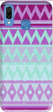 Tribal Chevron in pink and mint glitter Case for Honor Play Cor-L29