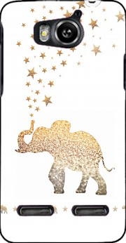 Gatsby Gold Glitter Elephant Case for Huawei Ascend G600 u8950