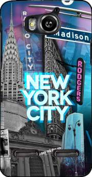 New York City II [blue] Case for Huawei Ascend G600 u8950