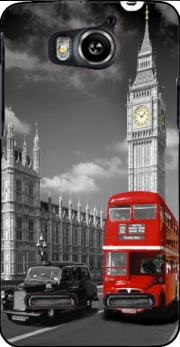 Red bus of London with Big Ben Case for Huawei Ascend G600 u8950