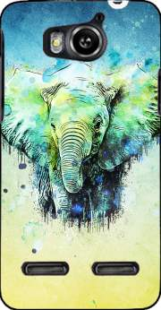 watercolor elephant Case for Huawei Ascend G600 u8950