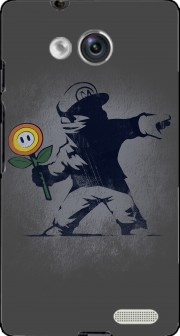 Banksy Flower bomb Case for Huawei Ascend Mate