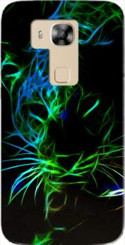 Abstract neon Leopard Case for Huawei G8