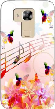 Musical Notes Butterflies Case for Huawei G8