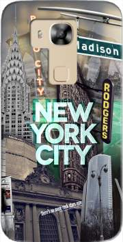 New York City II [green] Case for Huawei G8