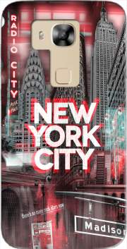 New York City II [red] Case for Huawei G8