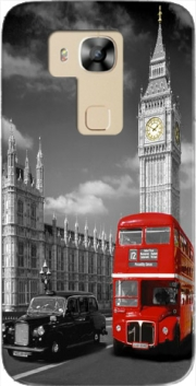 Red bus of London with Big Ben Case for Huawei G8
