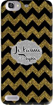 chevron gold and black - Je t'aime Papa Case for Huawei G8 Mini GR3 / Enjoy 5S