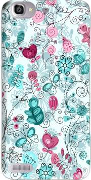 doodle flowers and butterflies Case for Huawei G8 Mini GR3 / Enjoy 5S
