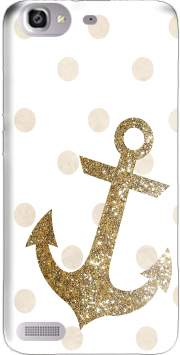 Glitter Anchor and dots in gold Case for Huawei G8 Mini GR3 / Enjoy 5S