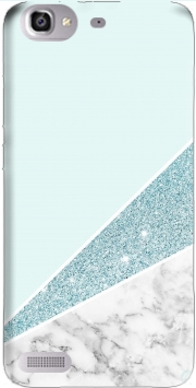 Initiale Marble and Glitter Blue Case for Huawei G8 Mini GR3 / Enjoy 5S