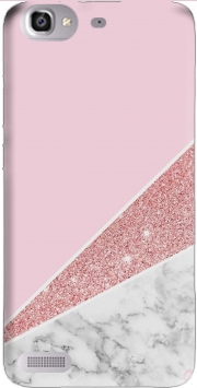 Initiale Marble and Glitter Pink Case for Huawei G8 Mini GR3 / Enjoy 5S