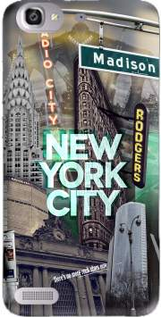New York City II [green] Case for Huawei G8 Mini GR3 / Enjoy 5S