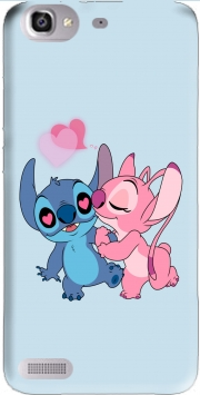 Stitch Angel Love Heart pink Case for Huawei G8 Mini GR3 / Enjoy 5S