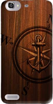 Wooden Anchor Case for Huawei G8 Mini GR3 / Enjoy 5S