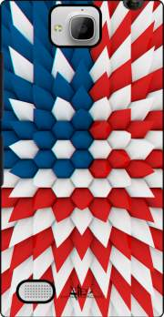 3D Poly USA flag Case for Huawei Honor 3C