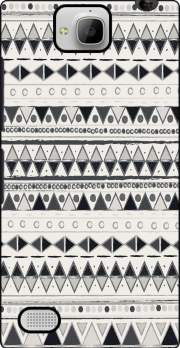 Ethnic Candy Tribal in Black and White Case for Huawei Honor 3C