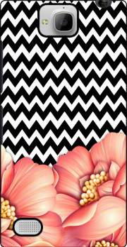 flower power and chevron Huawei Honor 3C Case