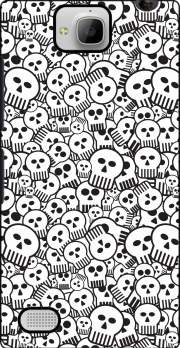toon skulls, black and white Case for Huawei Honor 3C