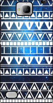 Tribal Aztec Pattern Blue Case for Huawei Honor 3C