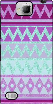 Tribal Chevron in pink and mint glitter Case for Huawei Honor 3C